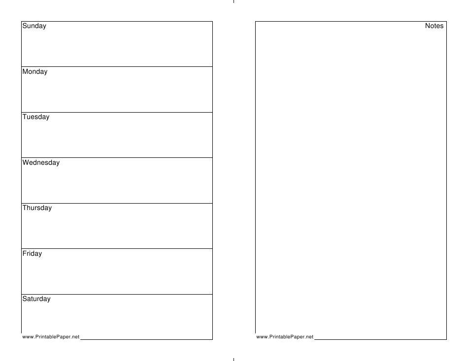 7 Day Weekly Planner Template Download Printable Pdf throughout 7 Day Planner Template