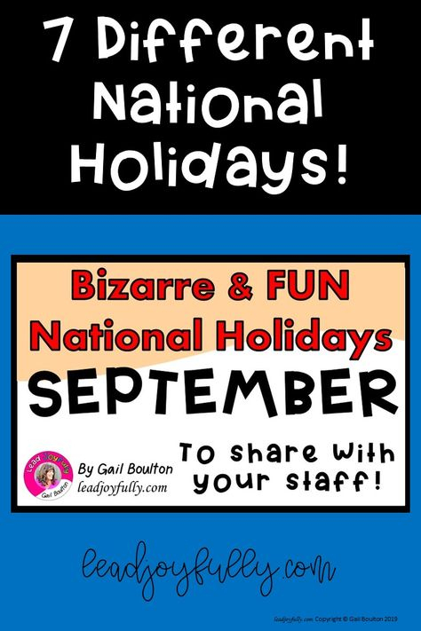 7 Different Bizarre And Fun Holidays To Celebrate In with regard to Odd Holidays In September
