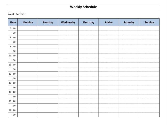 7 Week Calendar Template | Example Calendar Printable intended for 7 Day Week Calendar Printable