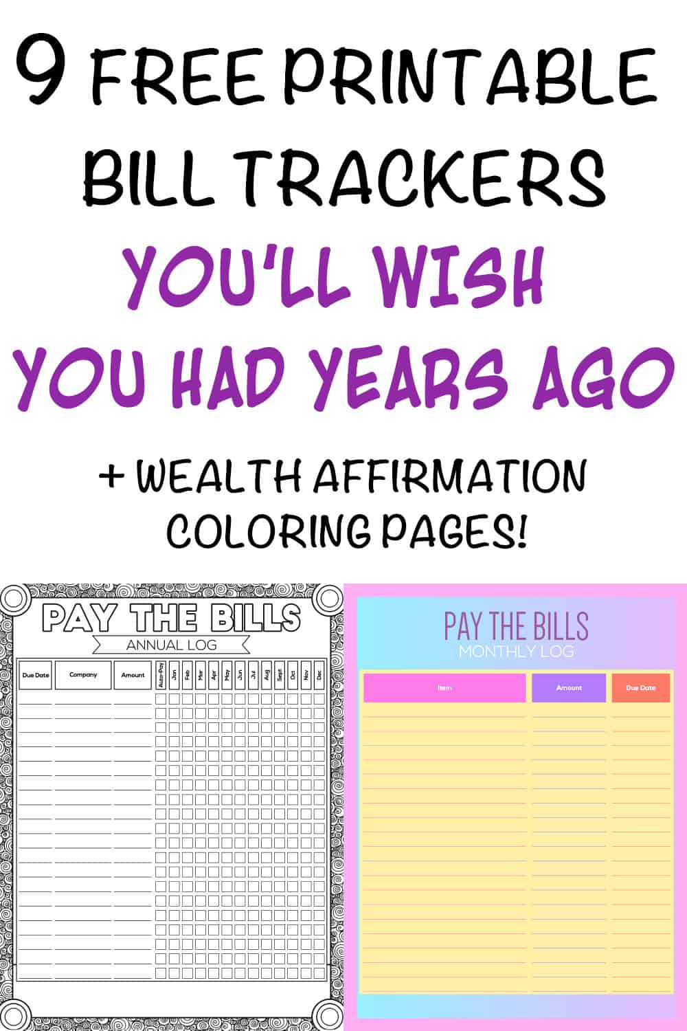 9+ Printable Bill Payment Checklists And Bill Trackers pertaining to Bill Payment Calendar Printable