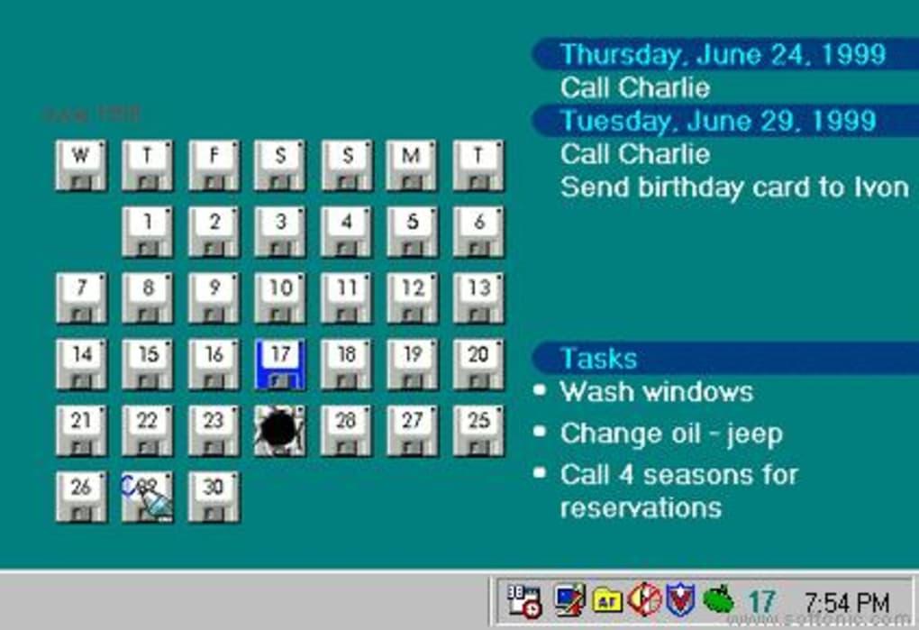 Active Desktop Calendar  Download regarding Outlook Calendar Wallpaper