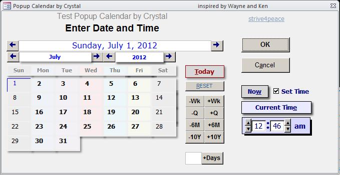Activex Calendar Control Access 2007 pertaining to Calendar Control Excel