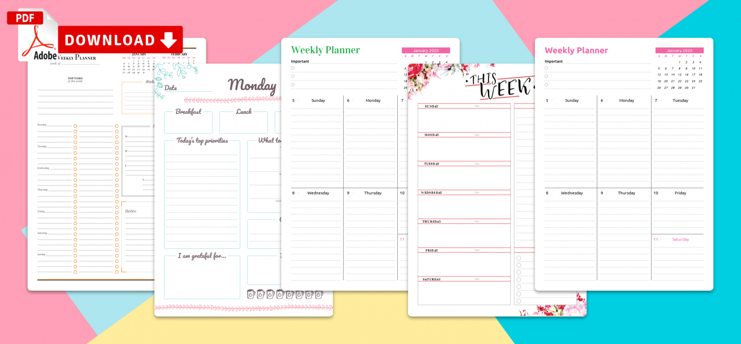 Affordable Templates: 7 Habits Weekly Planner Template Excel for 7 Day Weekly Planner Template