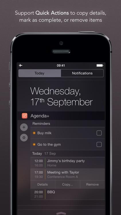 Agenda+ | Calendar & Reminder Widget By Avanio Labs with Desktop Reminder Calendar Apps Free