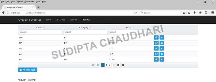 Angular 4 Crud Application Using Asp Web Api And C#   Web Api, Data Services, Regular Expression for Primeng Calendar Example