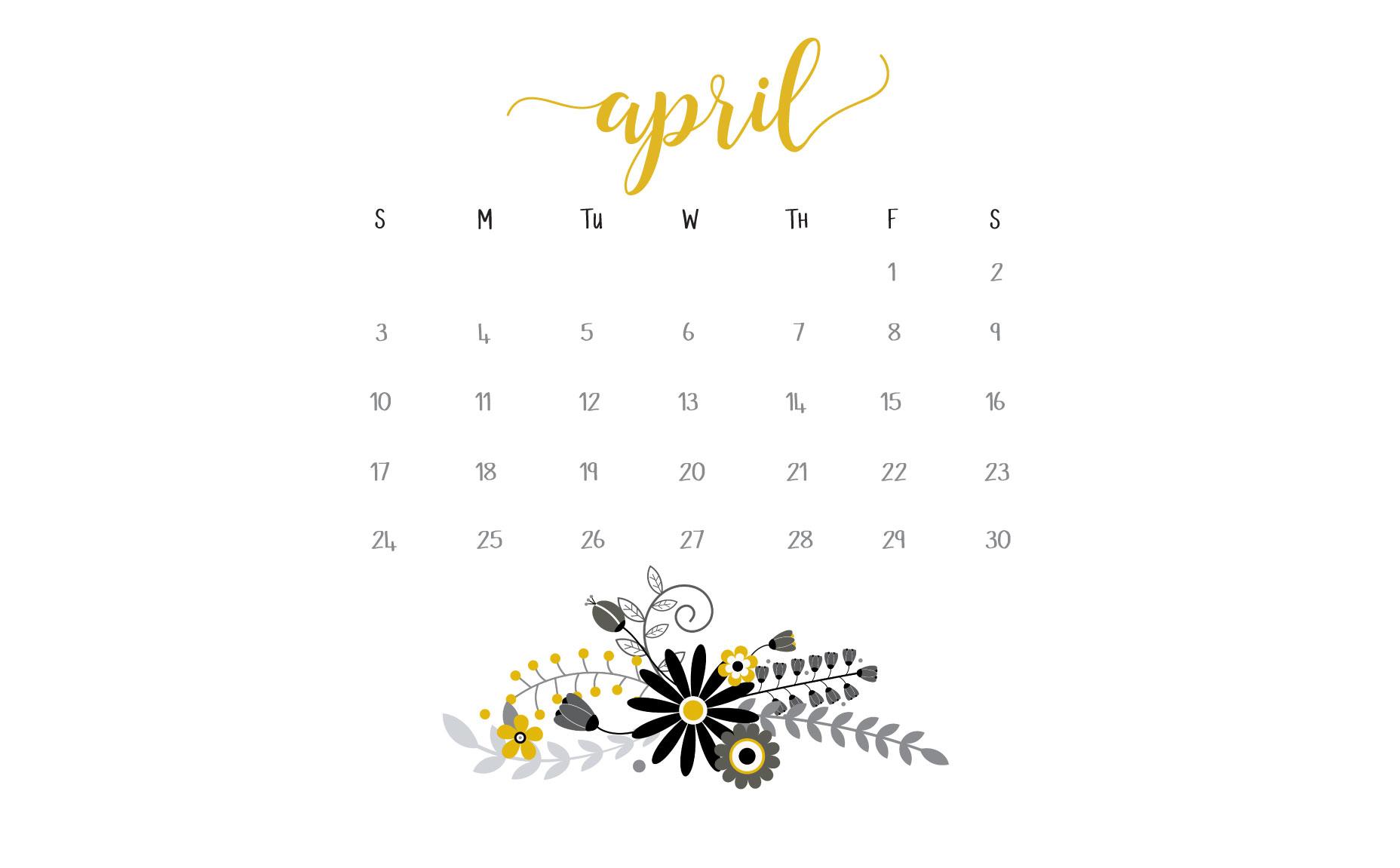 April 2016 Calendar Printables And Freebies regarding How To Make Google Calendar My Desktop Background