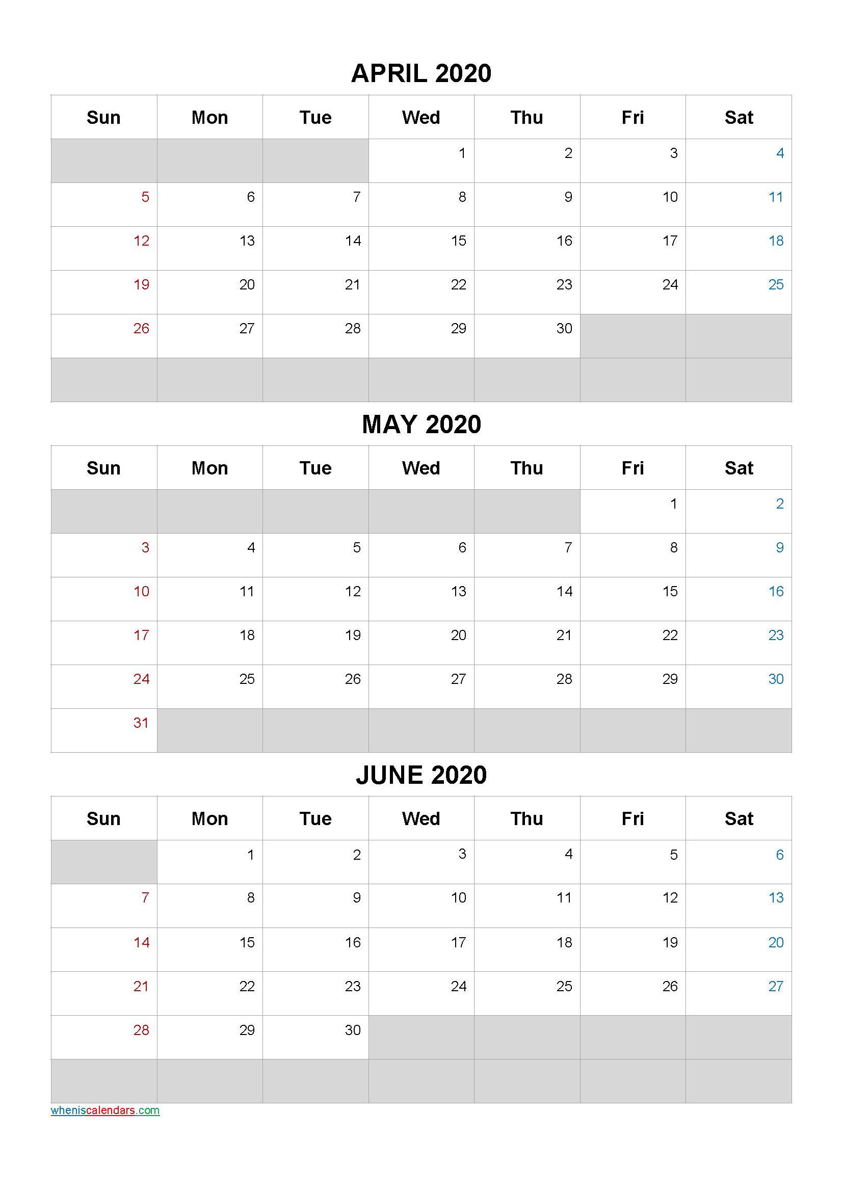 April May June 2021 Free Printable 3 Month Calendar21Ar5 with regard to Printable Calendar With Three Months