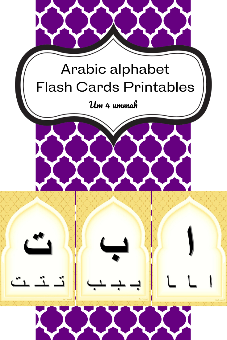 Arabic Alphabet Flash Cards With Written Forms Printables intended for Arabic Alphabet Flash Cards Printable