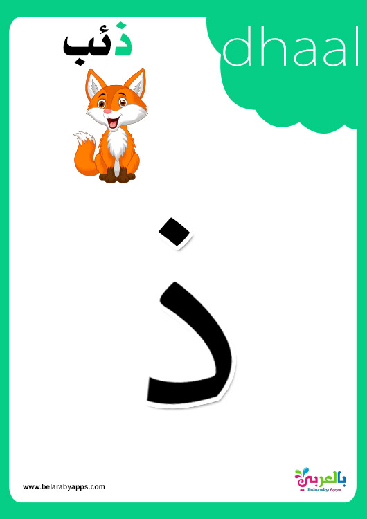 Arabic Alphabet Flashcards With Pictures ⋆ بالعربي نتعلم within Arabic Alphabet Flash Cards Printable