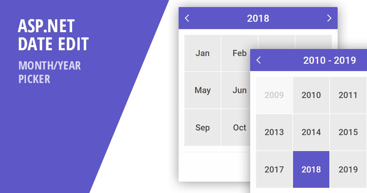 Asp And Mvc Dateedit & Calendar  Monthyear Picker pertaining to Net Mvc Calendar