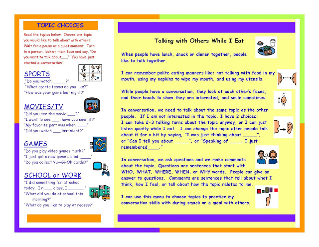 Baldwin Elementary S.c.o.r.e.s. Program: Conversation pertaining to Autism Social Skills Profiel 2