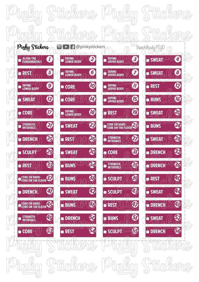 Beachbody Piyo Calendar Trackers For Erin Condren regarding Piyo Calendar Printable