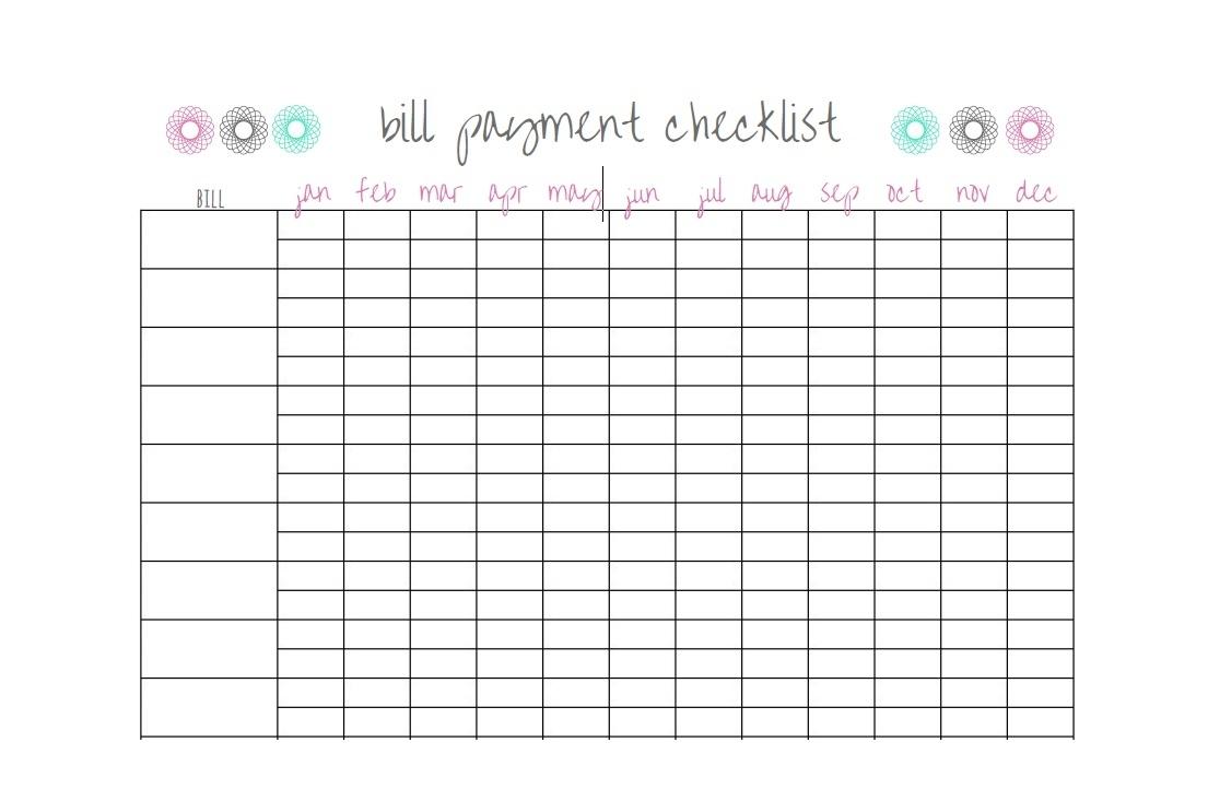 Bill Payment Calendar Template Printable  Calendar intended for Printable Calendar For Bills
