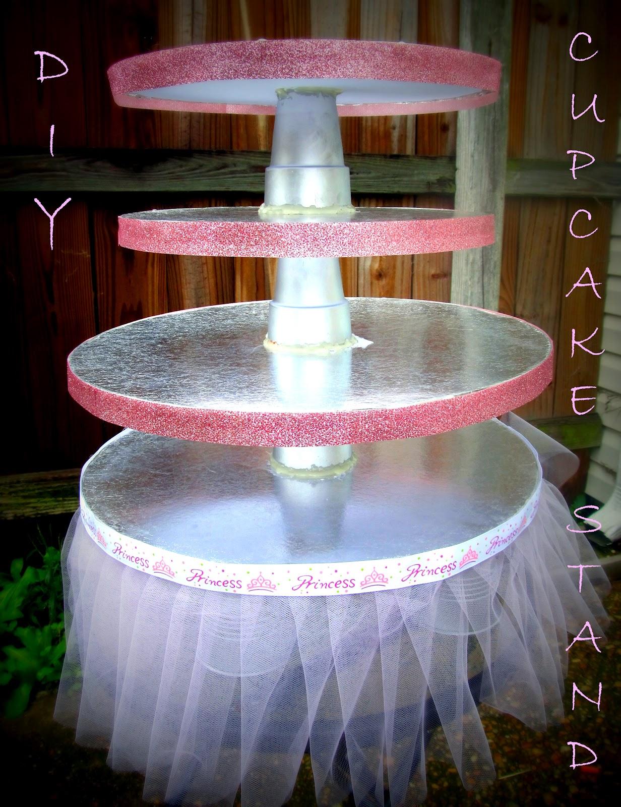 Bit Of Blue Sky: Diy Cupcake Stand with regard to Cupcake Birthday Display