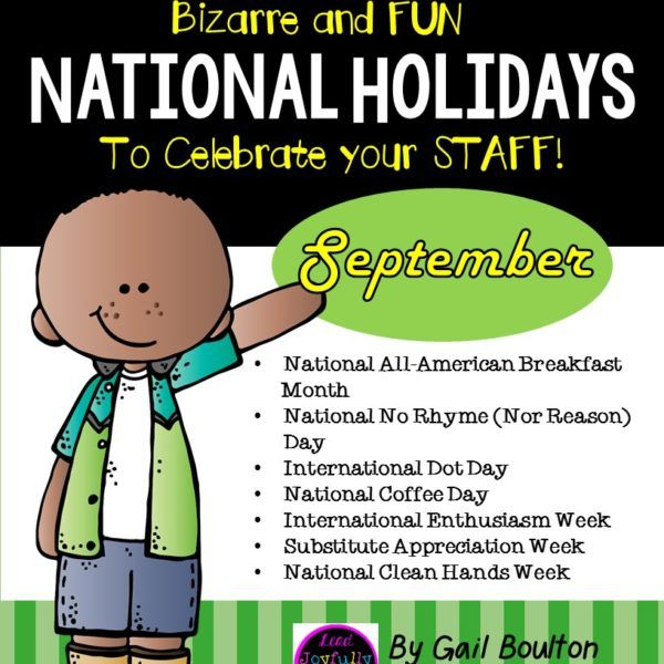 Bizarre And Fun National Holidays To Celebrate Your Staff in Odd Holidays In September