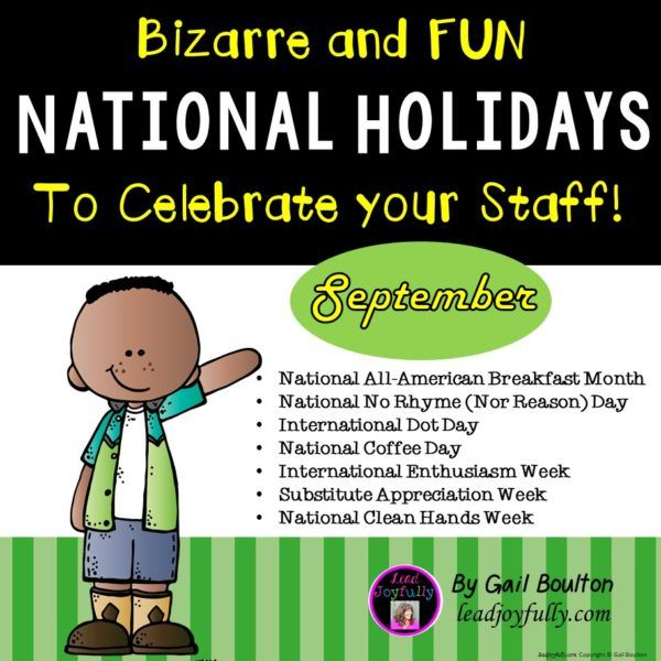 Bizarre And Fun National Holidays To Celebrate Your Staff regarding Odd Holidays In September