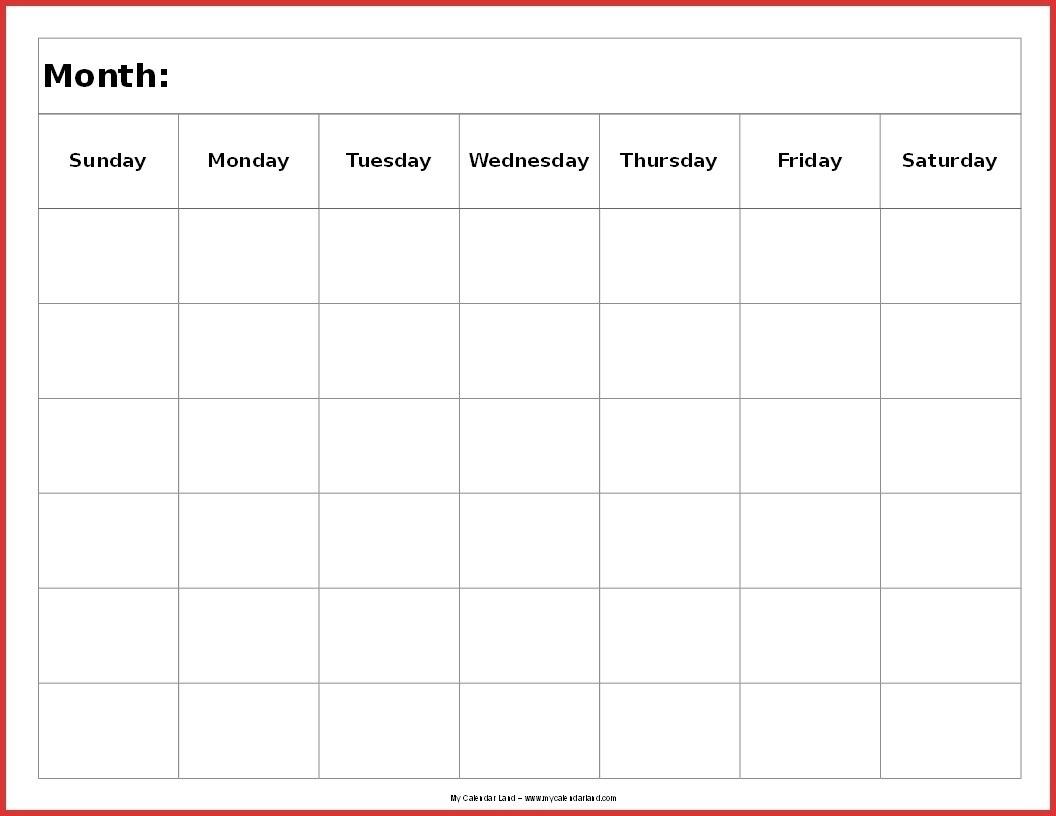 Blank 6 Week Calendar Template   Example Calendar Printable intended for Remarkable Calendar Template