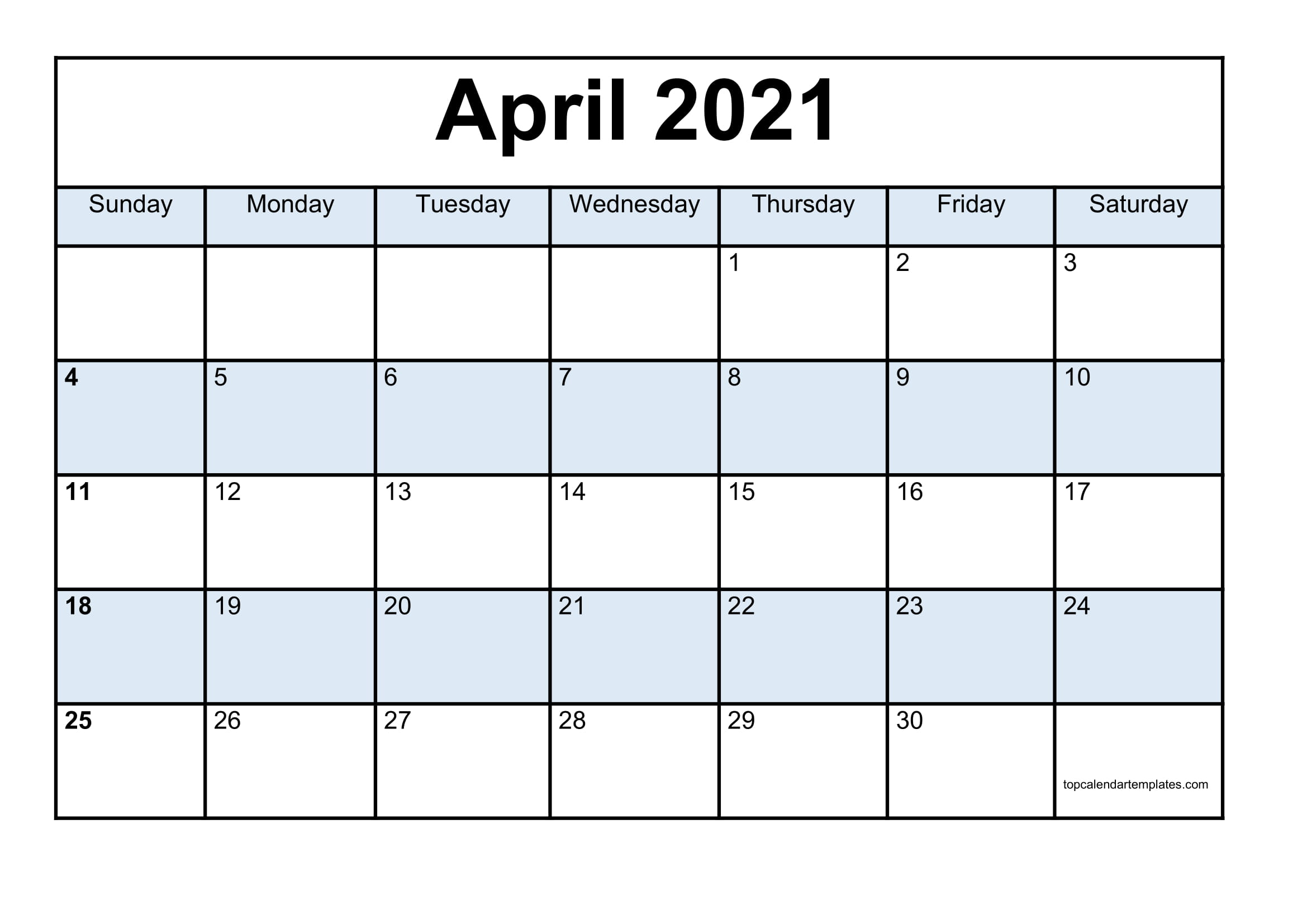Blank April 2021 Calendar Template  Monthly Planner within Blank Printable Calendars 3 Month 2021