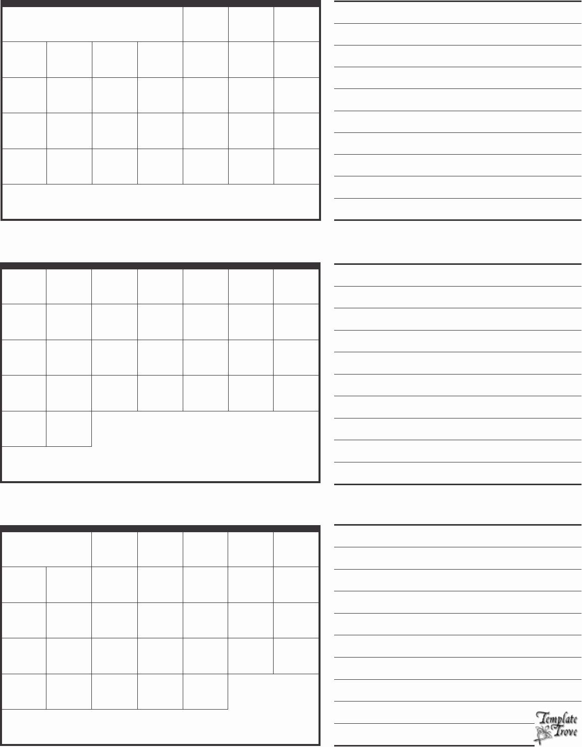 Blank Calendar 3 Months Per Page  Calendar Printable Free within 3 Month Calendar Printable