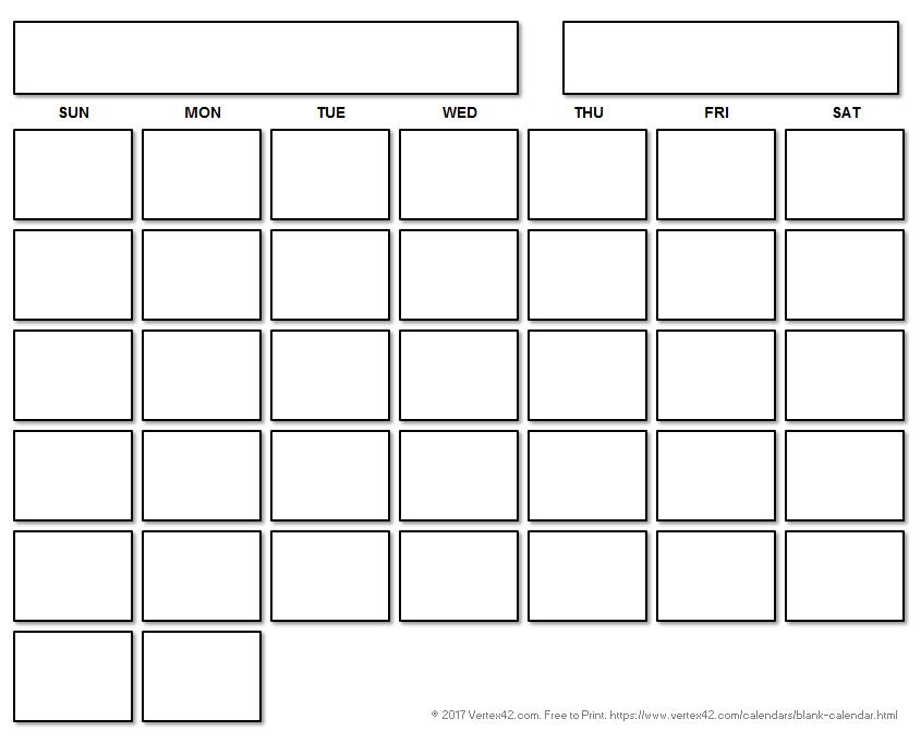 Blank Calendar Template  Free Printable Blank Calendars pertaining to Full Page Blank Calendar