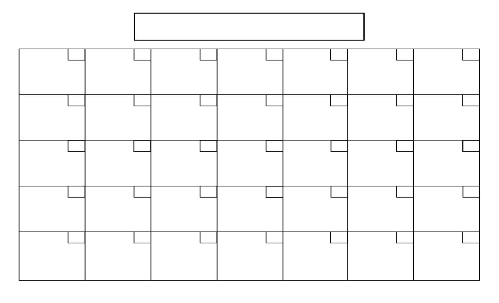 Blank Calendar Template No Dates   Calendar Template Printable for Remarkable Calendar Template