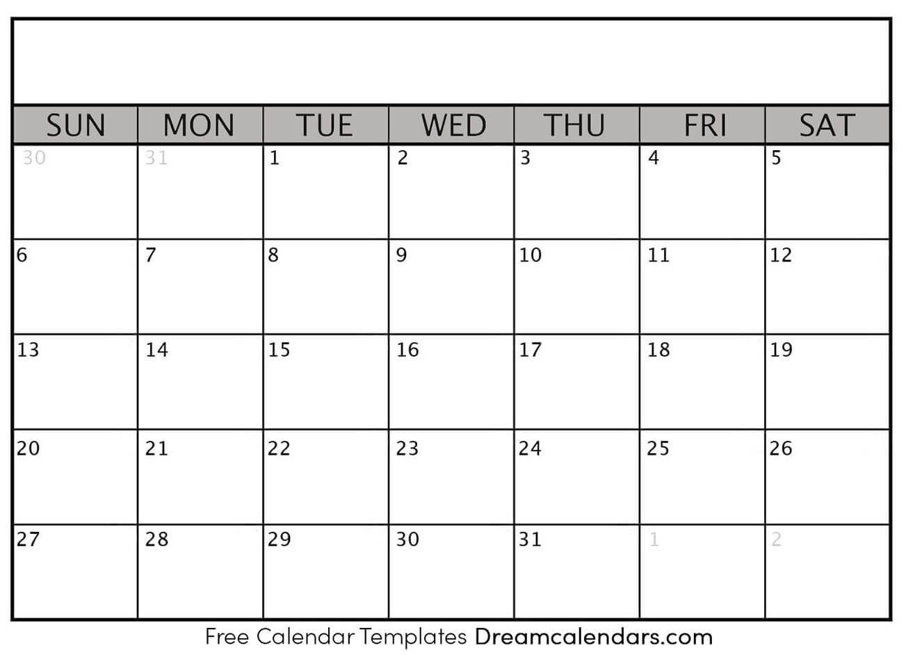Blank Calendar Templates. You Can Create Your Activities in Lesson Calendar Template