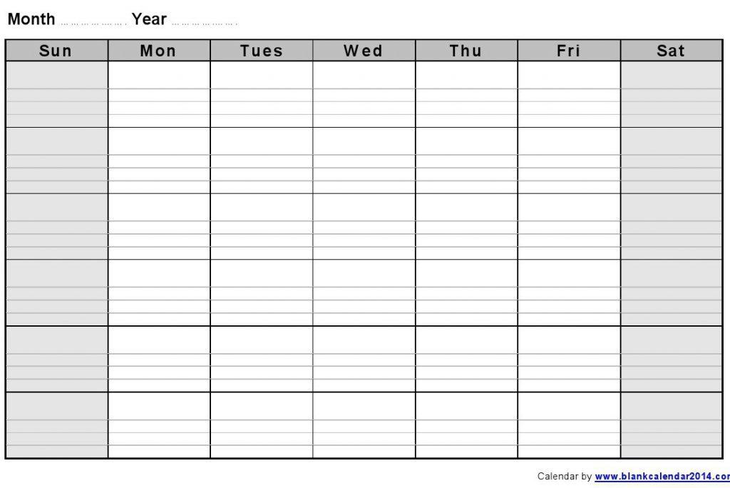 Blank Calendar With Lines  Printable Year Calendar for Full Page Blank Calendar
