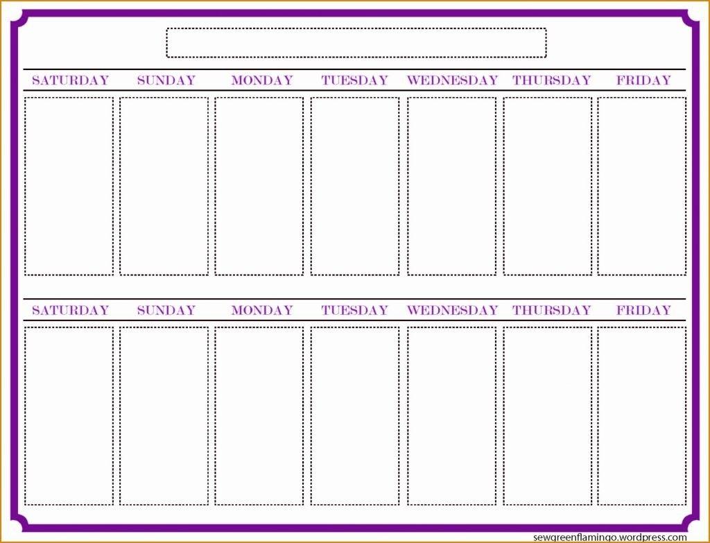 Blank Calender Two Weeks | Example Calendar Printable regarding Two Week Calendar Printable