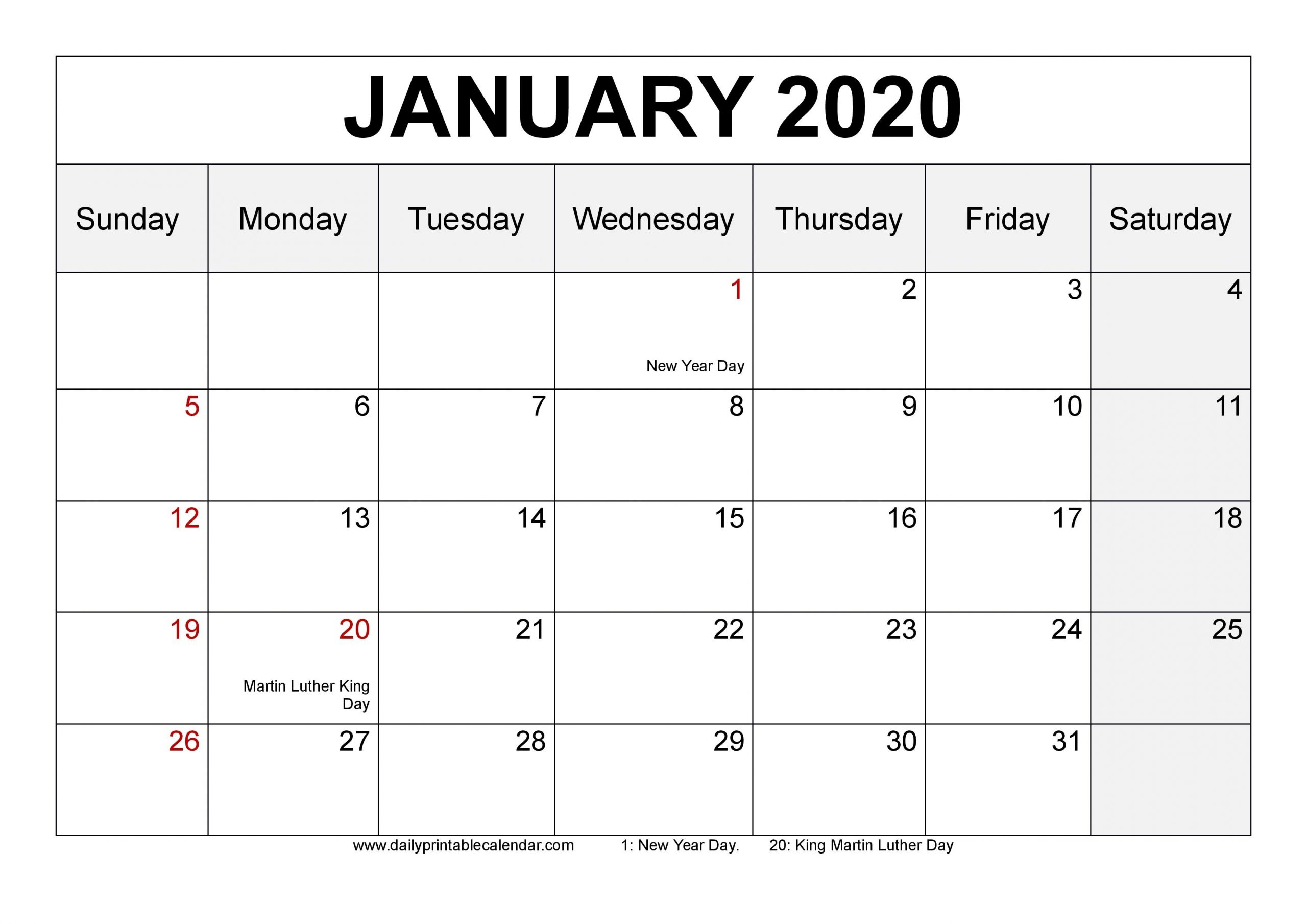 Blank Monday Through Friday Monthly Calendar   Ten Free in Blank Calendar Monday Through Friday