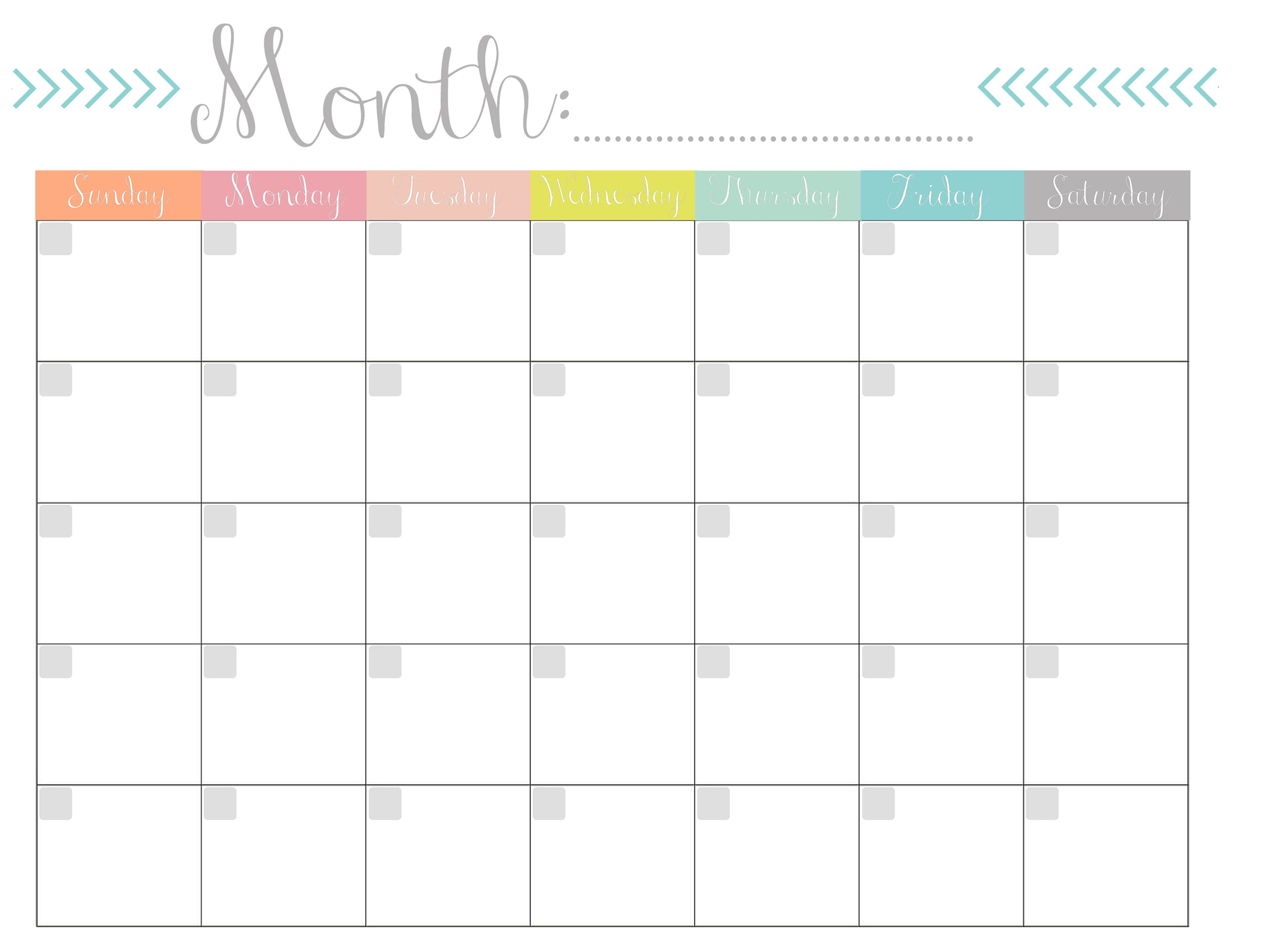Blank Monthly Calendar Template To Fill In | Calendar intended for Fill In The Blank Calendar