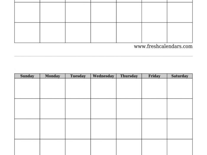 Blank Printable Two Week Calendar :Free Calendar Template within Blank 2 Week Calendar