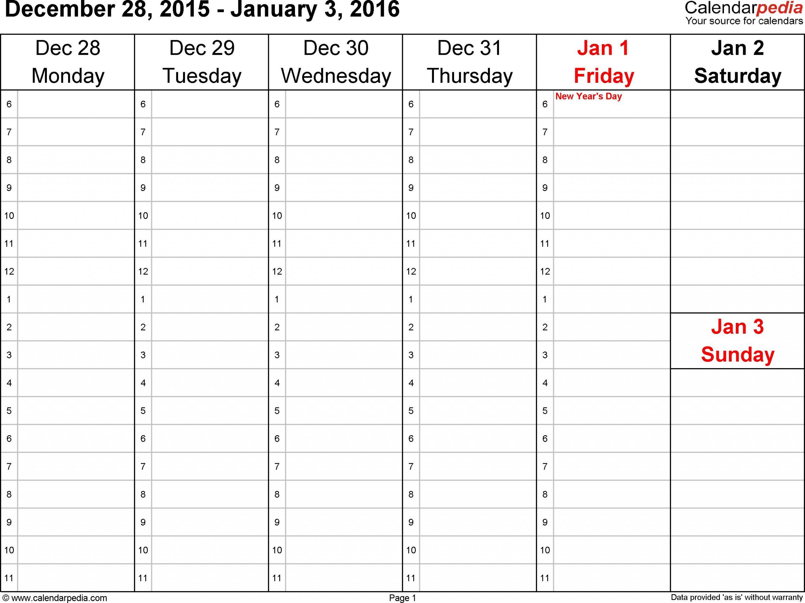 Blank Sunday Through Saturday Calendar :Free Calendar Template throughout Sunday Thru Saturday Calendar
