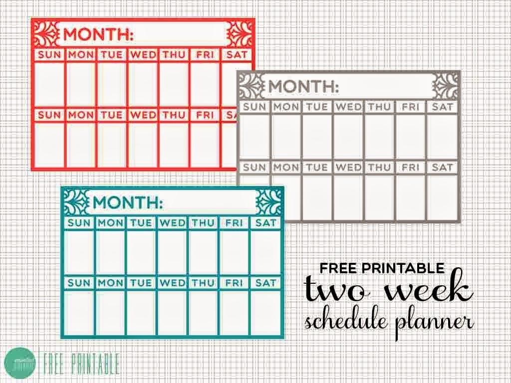 Blank Two Week Calendar Template  Calendar Inspiration Design regarding Blank 2 Week Calendar