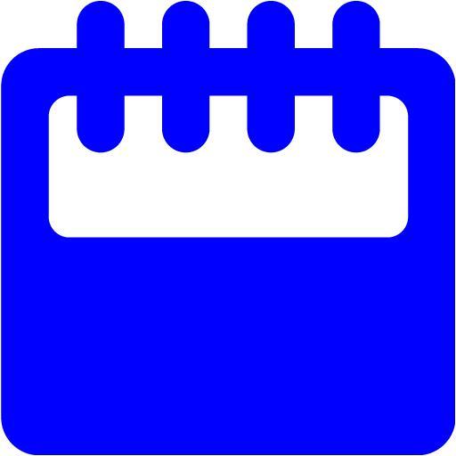 Blue Calendar 11 Icon  Free Blue Calendar Icons within Calendar Icon 16X16