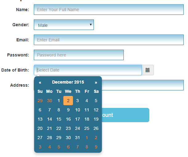 Bootstrap Datepicker: Set Up Guide With 8 Online Demos And with regard to Continuous Form Template Bootstrap W3Schools