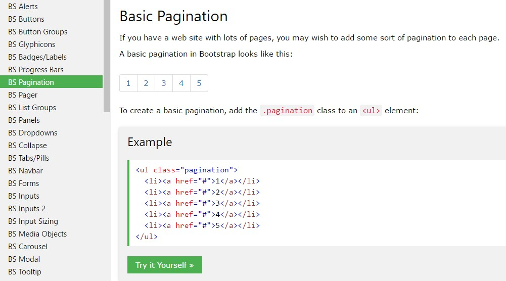 Bootstrap Pagination for Continuous Form Template Bootstrap W3Schools
