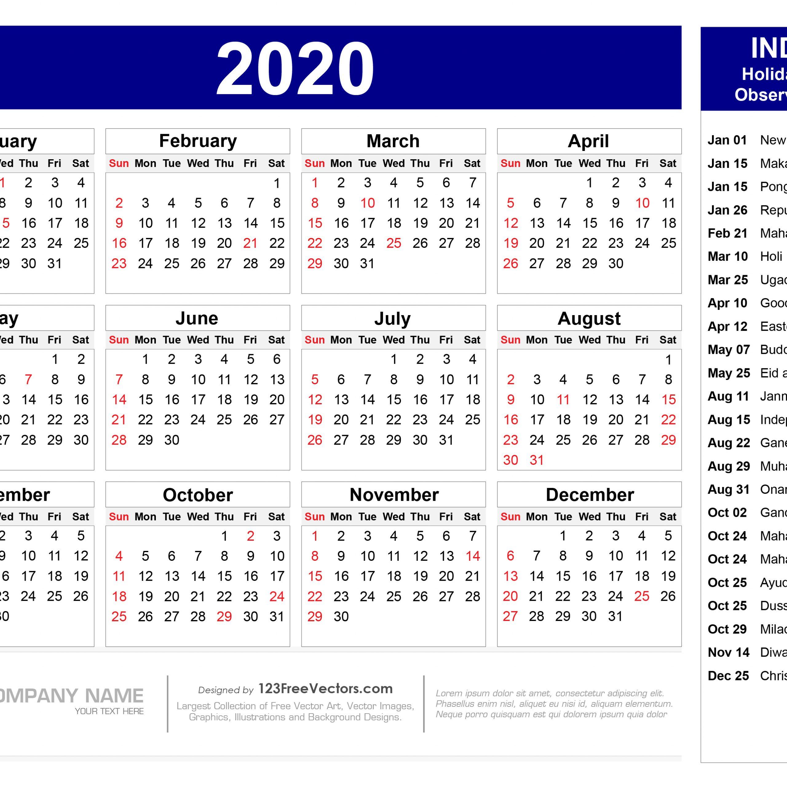 Calendar 2020 Holidays | Free Printable Calendar in Bihar Sarkar Holiday Calendar