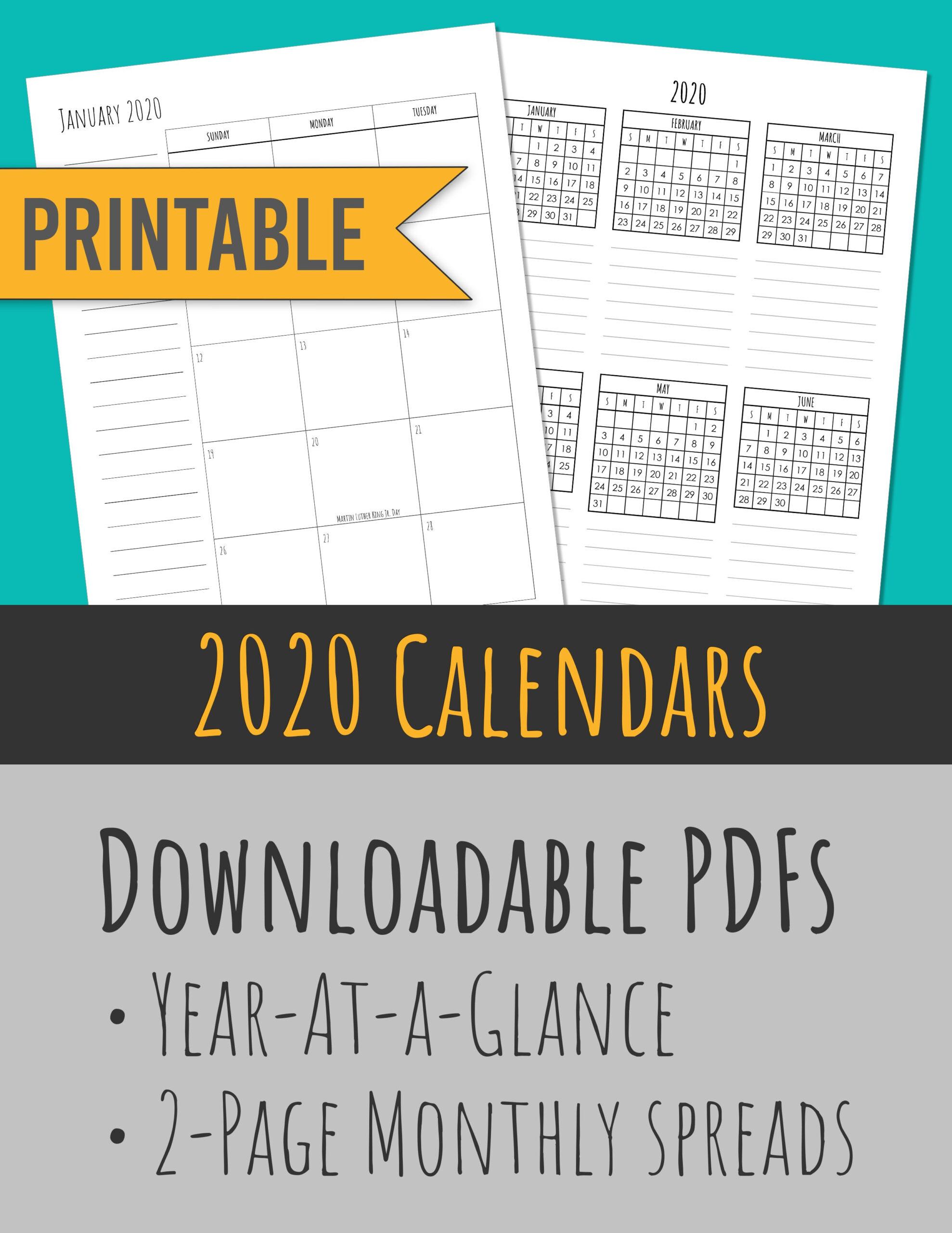 Calendar 2020 Year At A Glance   Calendar Printables Free regarding Year At A Glance Calendar Template