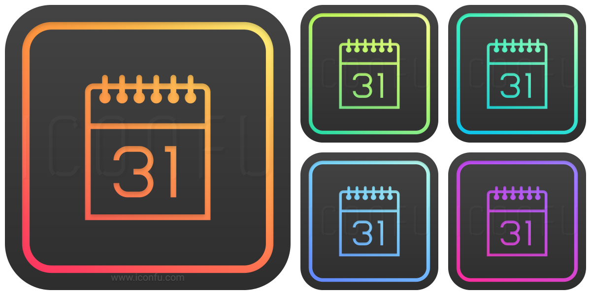 Calendar 31 Icon  Glow Style  Iconfu intended for Calendar Icon 16X16
