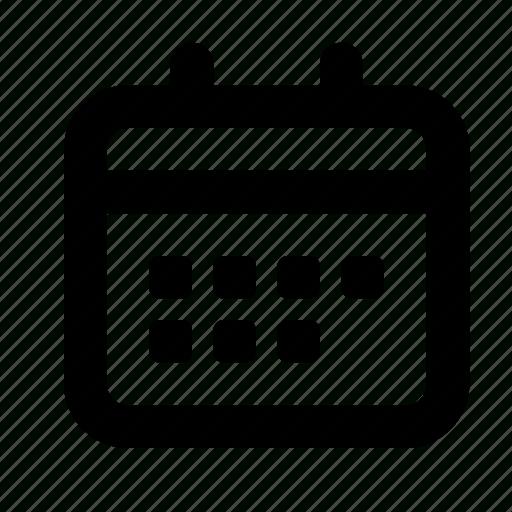 Calendar, Date, Month, Period, Planning, Week, Year Icon in Year Calendar Icon