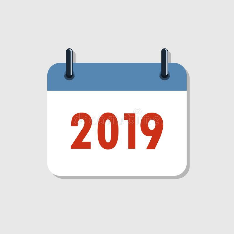 Calendar Icon 2019. Vector Illustration. Stock within Year Calendar Icon