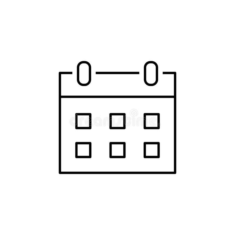 Calendar Icon For Web, Mobile. Vector Sign. Button. Symbol with Calendar Icon Material Design