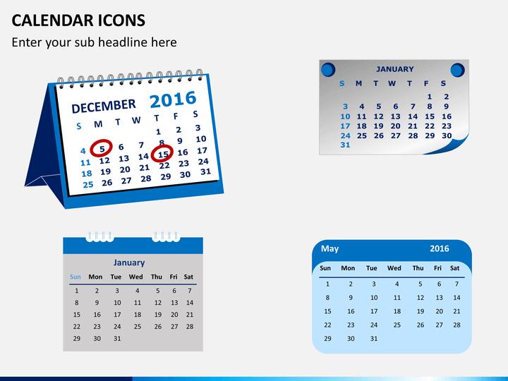 Calendar Icons Powerpoint | Sketchbubble in Calendar Maker For Mac