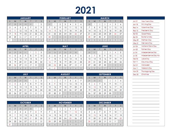 Calendar Labs 2021 Excel | Lunar Calendar inside 2021 Excel Printable Calendars