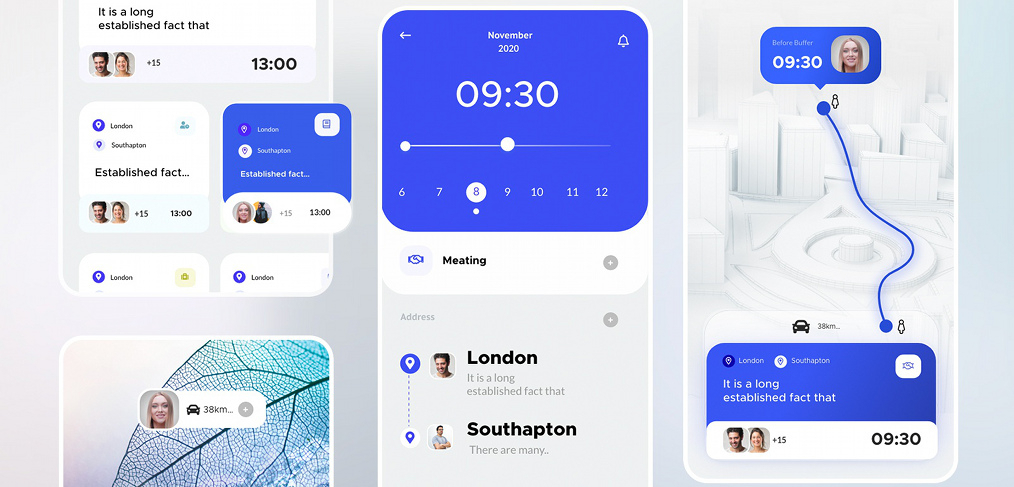 Calendar Meeting Xd App Template  Xdguru for Xd Calendar Kit