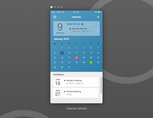 'Calendar Ui Models In Adobe Xd' By Jasper Yeh On Behance with Adobe Xd Calendar