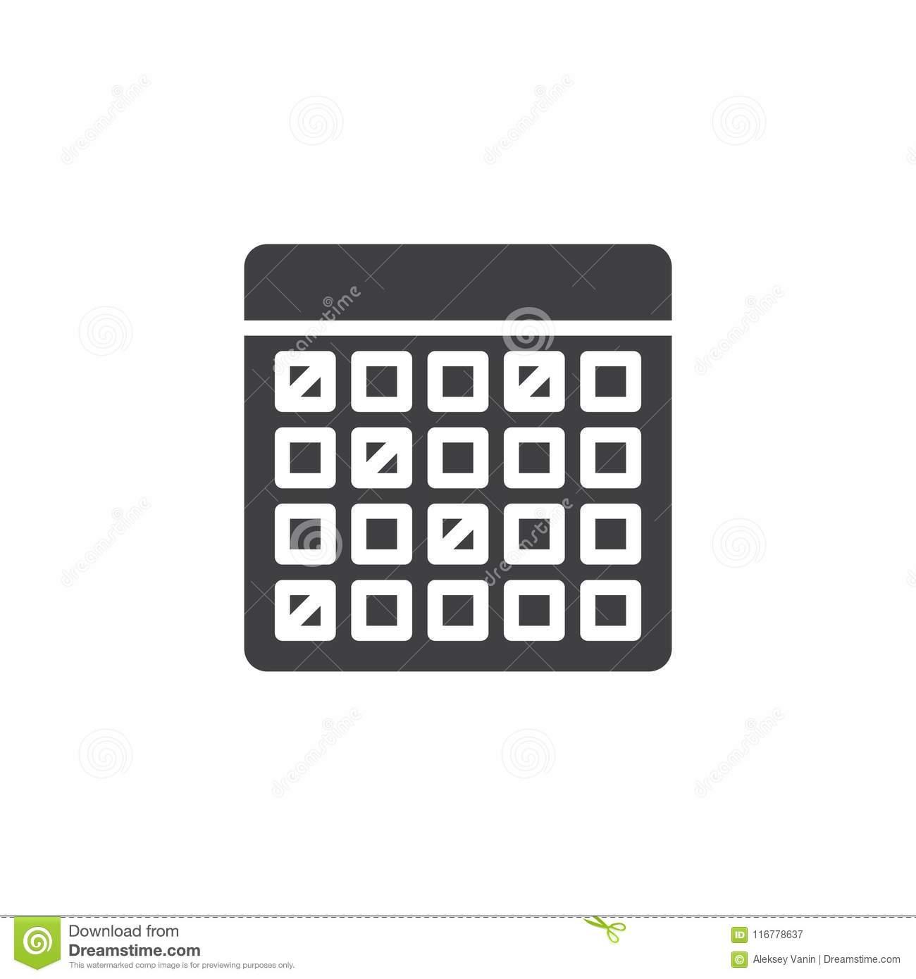 Calendar Vector Icon Stock Vector. Illustration Of Design inside Calendar Icon Material Design