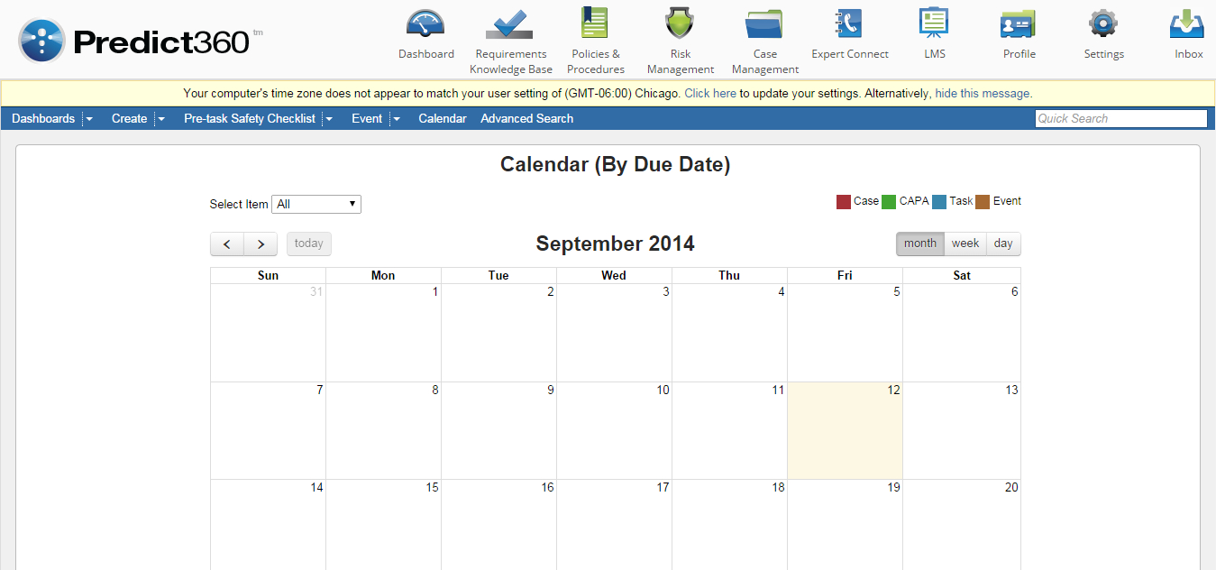 Calendar View Of Case Management with regard to Pto Schadle For Managme To View
