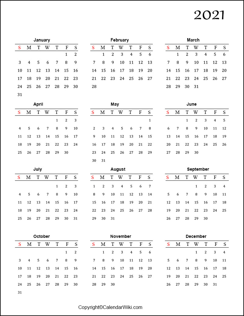 Calendars Printable 2021 Free With Grid Lines | Calendar within Free Printable Calendars 2021 With Lines