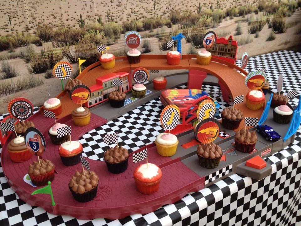 Cars Birthday Cupcake Display Printable Toppers: Http within Cupcake Birthday Display